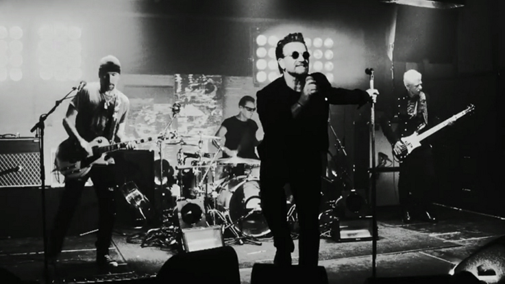 Watch U2's live music video for new song 'The Blackout'